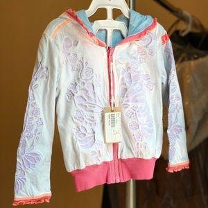 Diesel girl's reversible cotton jacket 12 months